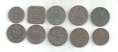 Lot Of 10 Different German Notgeld Coins (Gng 244)