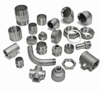 """STAINLESS STEEL 316 PIPE FITTINGS BSP 1/8"""" To 4"""" - RATED to 150lb"""
