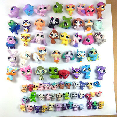 Random 20PCS Littlest Pet shop LPS Animals Pet Cat Pony Owl Squirrel Animals Toy