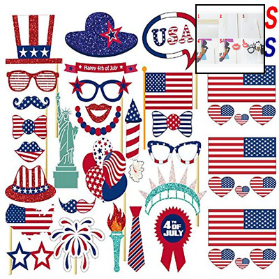 Tinksky 4th Of July Photo Booth Props Patriotic Party Props American