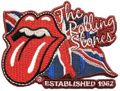 Rolling Stones Aufbügler / Embroidery Patch # 25 - Aufnäher Lick The Flag