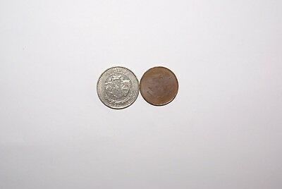 2 DIFFERENT COINS from LEBANON - 100 & 500 LIVRES (BOTH DATING 1996)