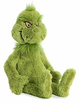 "Grinch Plush Stuffed Animal , Green Aurora World 18"" The Grinch Movie"