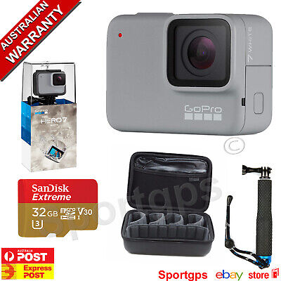 GoPro HERO7 WHITE **PLATINUM BUNDLE ** SANDISK 32GB,POLE, CARRY CASE SAVE $100