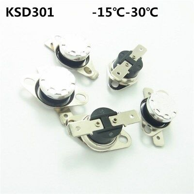 -15-30°C Thermostat Temperature Thermal Switch Normally Open/Closed NO/NC KSD301