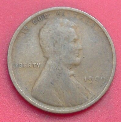 1909 Lincoln Wheat Cent Penny ** FREE SHIPPING ** B1940