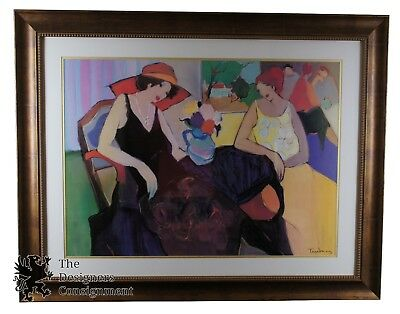 """Itzchak Tarkay """"Relationship"""" Plate Signed Offset Lithograph Post Impressionism"""