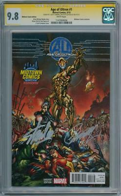 Age Of Ultron #1 Midtown Cgc 9.8 Signature Series Stan Lee Scott Campbell Marvel