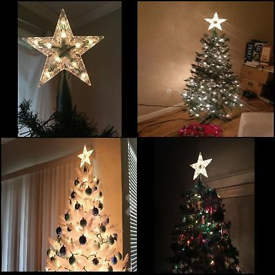 Star Treetop 10-Light Set, 7-Inch, Clear , for tree Christmas Decorations
