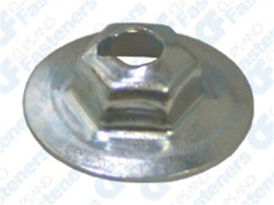 Clipsandfasteners Inc 100 10-32 Hex Keps Lock Washer /& Nut Zinc