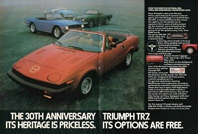 1980 Triumph TR7 30th Anniversary (English, 2pg.) Advertisement (AAC.662)