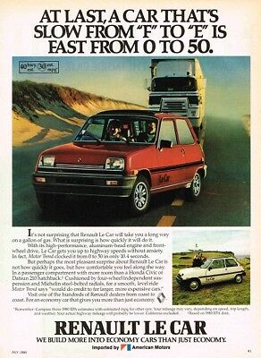 1980 Renault 5 Le Car (English, 1pg.) Advertisement (AAC.685)