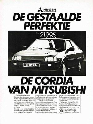1983 Mitsubishi Cordia (Dutch, 1pg.) Advertisement (AAC.716)