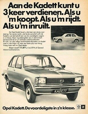 1977 Opel Kadett C (Dutch, 1pg.) Advertisement (AAC.752)