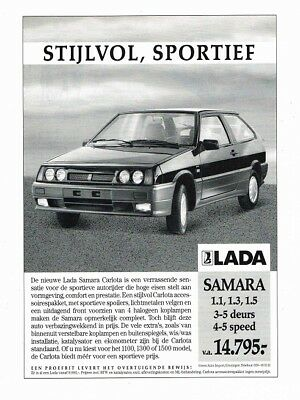 1990 Lada Samara Carlota (Dutch, 1pg.) Advertisement (AAC.780)