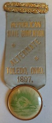 1897 Ohio Republican State Convention Alternate Badge Drape