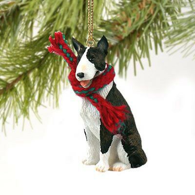 Bull Terrier Brindle Dog Tiny One Miniature Christmas Holiday ORNAMENT