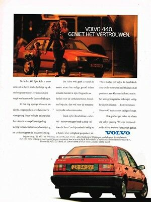 1990 Volvo 440 (Dutch, 1pg.) Advertisement (AAC.787)
