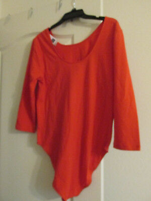 NEW GAP red Long Sleeve One Piece Body Suit Nwt Womens large