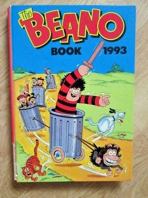 Vintage Beano Annual / Book 1993 Very Good Condition Un-Clipped Retro Characters