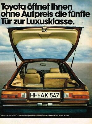 1979 Toyota Corona Liftback GL (German, 1pg.) Advertisement (AAC.866)