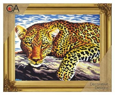 Collection d'Art Leopard Cross Stitch Kit 22 x 30cm  (6.254K)