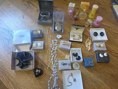 Vintage Avon Jewelry, Scents,other Assorted Brands And Items