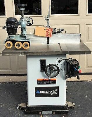 Wood shaper heavy duty Delta X Model 43-431X, closed cabinet. Local pickup  used