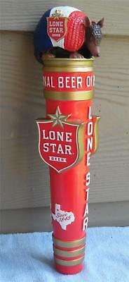 """Lone Star Beer New Armadillo Ceramic Tap Handle ..11 3/4 """" New Beauty in box!!"""