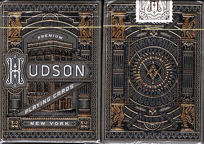 Hudson Black Playing Cards Poker Size Deck USPCC theory11 Custom Limited Sealed