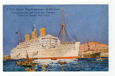 Vintage Postcard P&O Peninsular and Oriental Steam Nav. Electric Ship SRATHAIRD