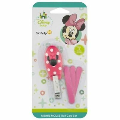 Disney Baby Girl Minnie Mouse Pink Nail Care Set Clippers Emery File Boards