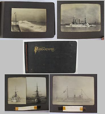 Antique Photograph Album, Spanish American War Dreadnaught Cruisers Destroyers