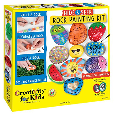 Creativity for Kids Hide and Seek Rock Painting Kit - Spread Kindness and 10