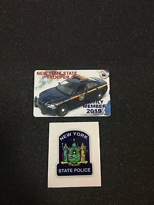 Pba 2019 New York State Trooper Card +2 Reflective Decal
