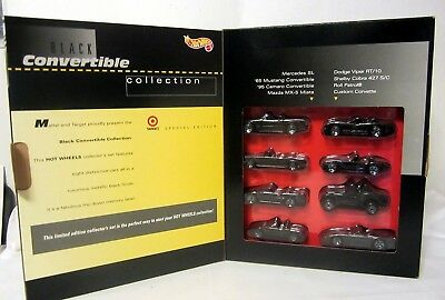 NOS VINTAGE Hot Wheels Black Convertible Collection 1995 Limited Edition