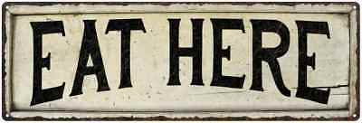 RESTROOM Farmhouse Style Wood Look Sign Gift   Metal Decor 106180028258