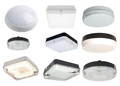 16W & 28W 2D CFL Bulkhead Light Various Round Square Black White Opal Prismatic