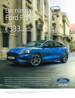 2018 Ford Focus ST-Line (Dutch, 1pg.) Advertisement (AAD.148)