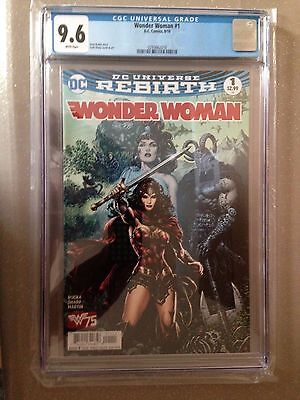 WONDER WOMAN #1, CGC 9.6, New, DC Rebirth (2016)