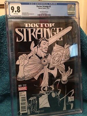 DOCTOR STRANGE #1, QUESADA 1:150 SKETCH VARIANT, CGC 9.8, Marvel Comics (2015)