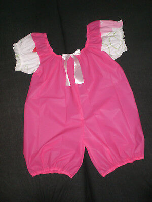 Adult Baby Plastik Pvc Bloomer Body Shorty Spielanzug Suit Romper Xl-Xxl