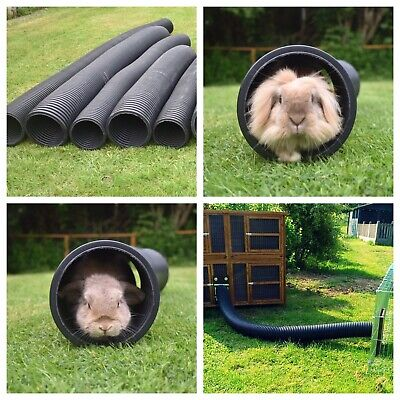Rabbit/ Guinea Pig, Flexible Plastic Pet Animal Garden/ House Play Tunnel Burrow