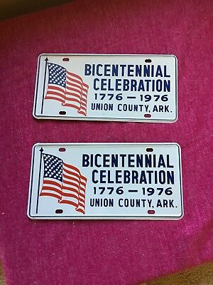 El Dorado Arkansas Union County Bicentennial Car Plates NOS!