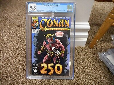 Conan 250 cgc 9.8 Marvel 1991 GIANT sized 205th issue MINT WHITE pgs Barbarian