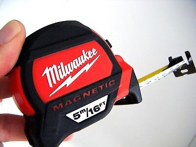 Builders Joiners Magnetic Tape Measure By Milwaukee 5M/16Ft New 4932459374