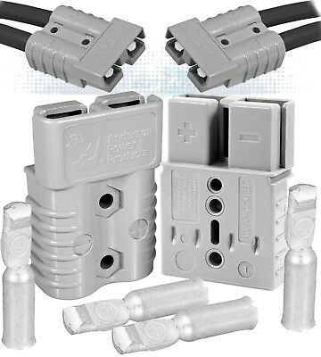 Anderson SB120 Power Ground Quick Disconnect Grey, 4 AWG ( PACK OF 2 SET)
