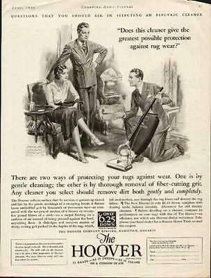 Hoover Vacuum Cleaner 1931 ad by Artist Arthur William Brown