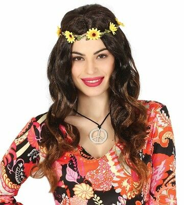 1960s Hippie Con Perline Fascia per capelli-accessorio Costume Hippy Donna 70s
