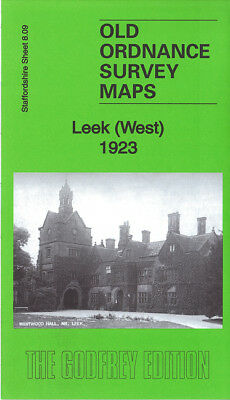 Old Ordnance Survey Map Leek West & East 1923 Two Maps Both Double Sided